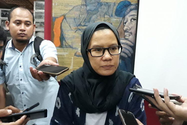 Koordinator Kontras Yati Andriani di Kantor Kontras, Jakarta Pusat, Jumat (19/10/2018).