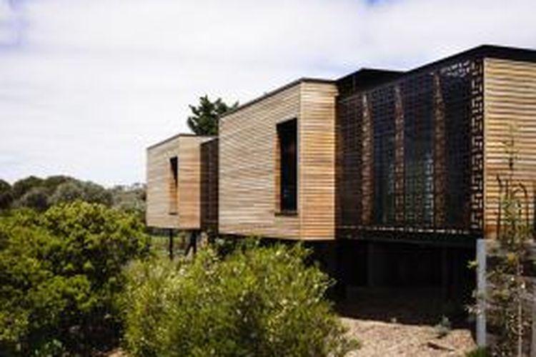 Blairgowrie House di selatan Australia ini sengaja dibuat agar mampu berpadu serasi dengan lingkungan sekitarnya.