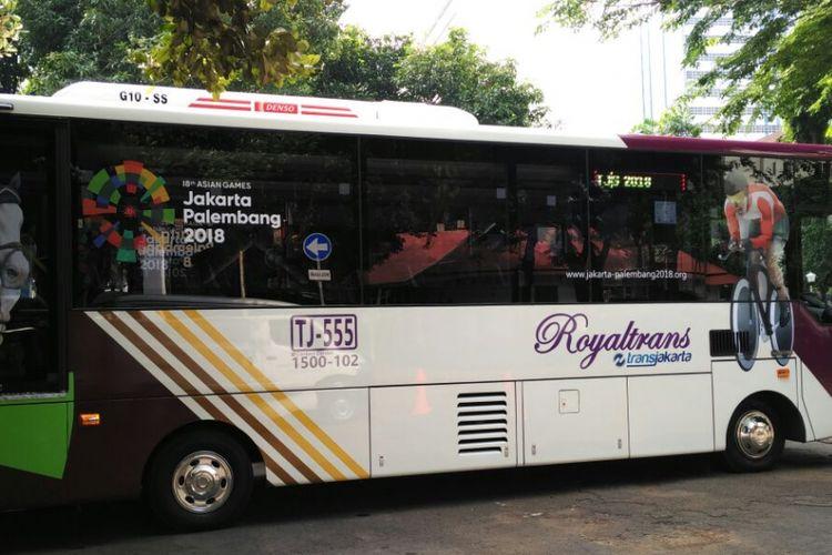 Bus Royaltrans jadi solusi ganjil-genap di Bekasi, Minggu (11/3/2018)