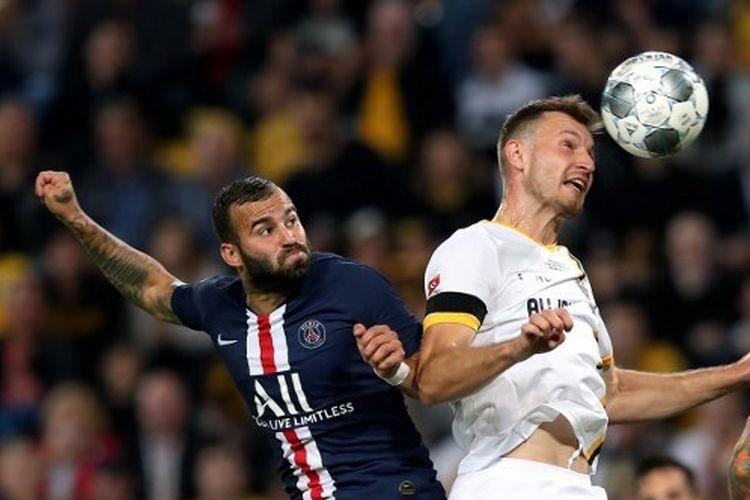 Jese Rodriguez saat membela Paris Saint-Germain dalam pertandingan uji coba menghadapi Dynamo Dresden, 16 Juli 2016.
