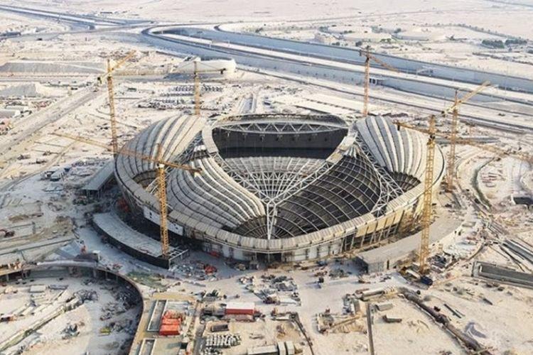 Progres pembangunan Al-Wakrah Stadium
