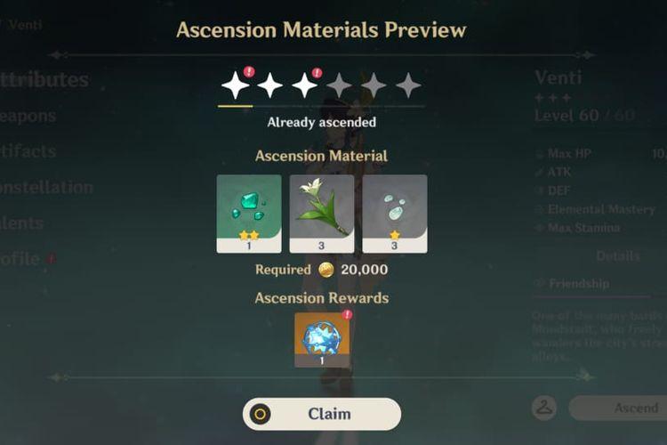 Acquaint Fate gratis yang dapat diklaim melalui menu Karakter