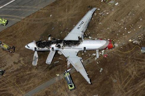 Satu Korban Tewas Pesawat Asiana Sempat Terlindas Truk Pemadam