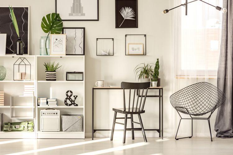 Ilustrasi tempat kerja di rumah