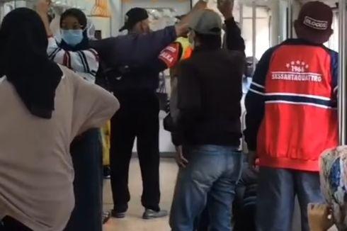 Viral Video Penumpang Merokok di Dalam KRL, Dorong Petugas Saat Ditegur