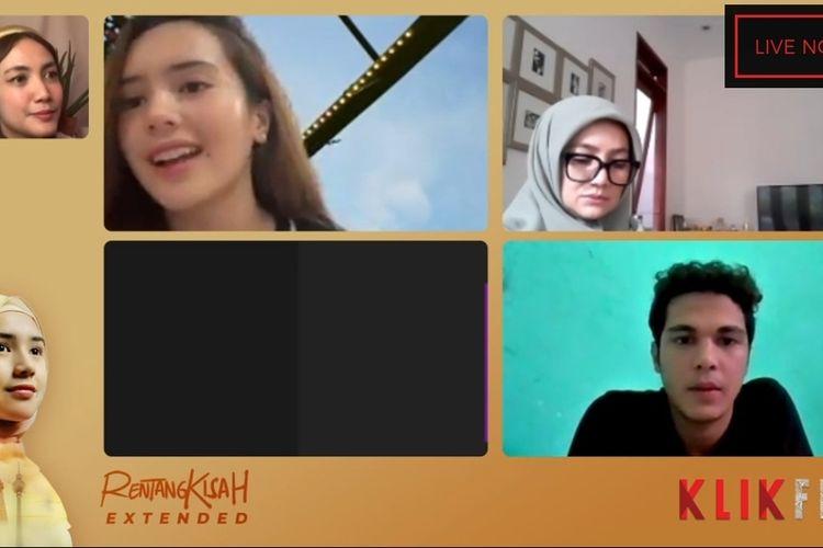 Beby Tsabina dalam acara Gala Premiere virtual film Rentang Kisah, Selasa (11/5/2021).