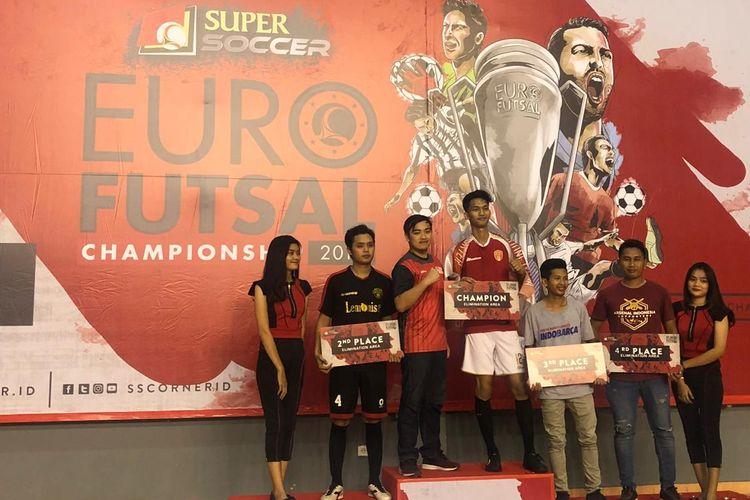 Sebanyak empat tim komunitas penggemar klub sepak bola Eropa dari Sumatera akan tampil pada kualifikasi regional Jakarta Euro Futsal Championship 2019.