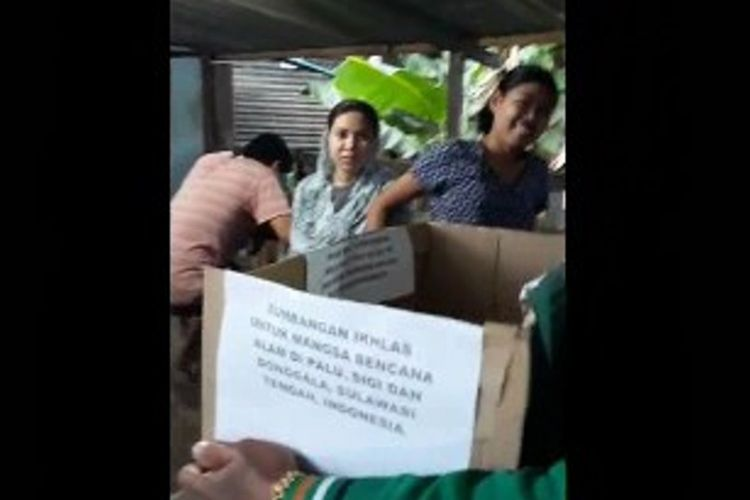 Ratusan TKI di Sabah, Malaysia bahu-membahu menghimpun bantuan untuk para korban bencana tsunami Palu, Sulawesi Tengah.
