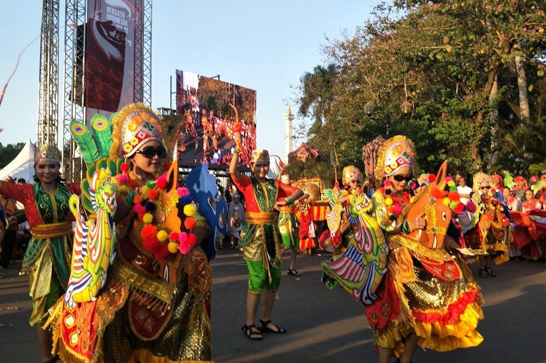 Pesta budaya nusantara di Monas, Minggu (20/10/2019)
