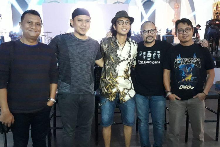Para personel grup musik PADI Reborn saat ditemui di kawasan SCBD, Jakarta Selatan, Jumat (22/3/2019).