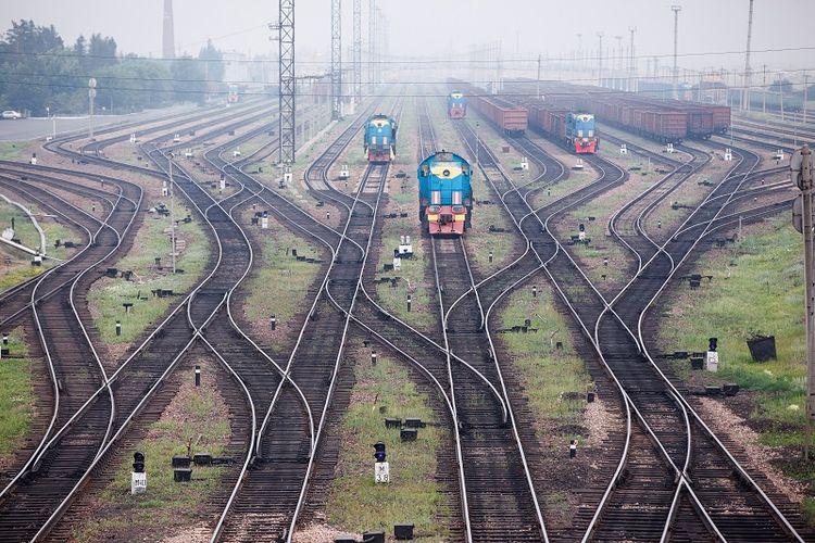 Stasiun kereta api.