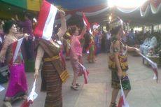 Pedagang Tionghoa Surabaya Juga Gelar Upacara Bendera