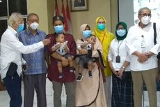 Setahun Dirawat di RSUP Medan, Bayi Kembar Siam Adam dan Aris Akhirnya Pulang ke Labuhanbatu