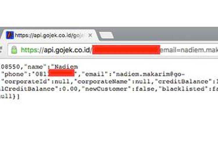 Bug di aplikasi GoJek