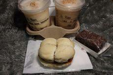 Mencoba Sandwich Bakso Tanpa Daging dan Kue Cokelat Nabati