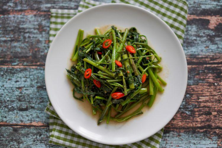Resep Tumis Kangkung Tauco Masak Sayur Ala Restoran