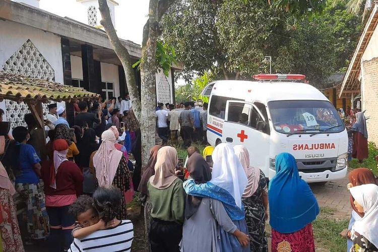 Proses pemakaman korban Lapas Tangerang Jueni