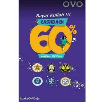 Pamflet bayar uang kuliah bisa menggunakan OVO