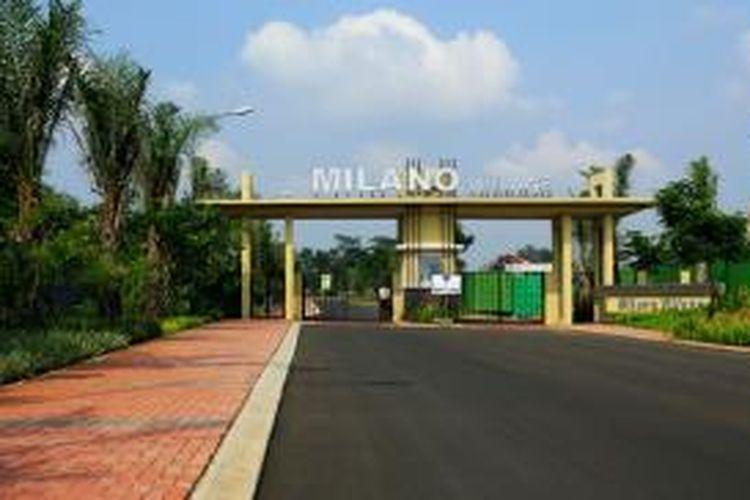 Milano Village dibangun di gerbang selatan Gading Serpong, Tangerang. Paramount melansir 215 unit di perumahan ini.