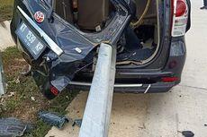 Kecelakaan di Tol Balsam, Bodi Mobil Avanza Tembus Pagar Pembatas