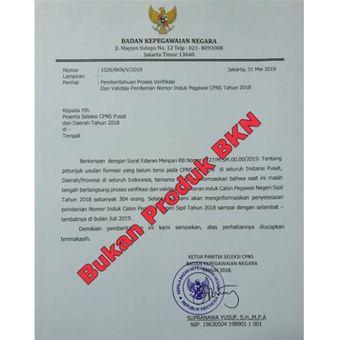 Surat palsu mengatasnamakan BKN