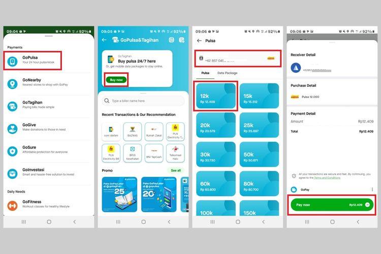 Cara mengisi ulang pulsa Indosat lewat aplikasi Gojek