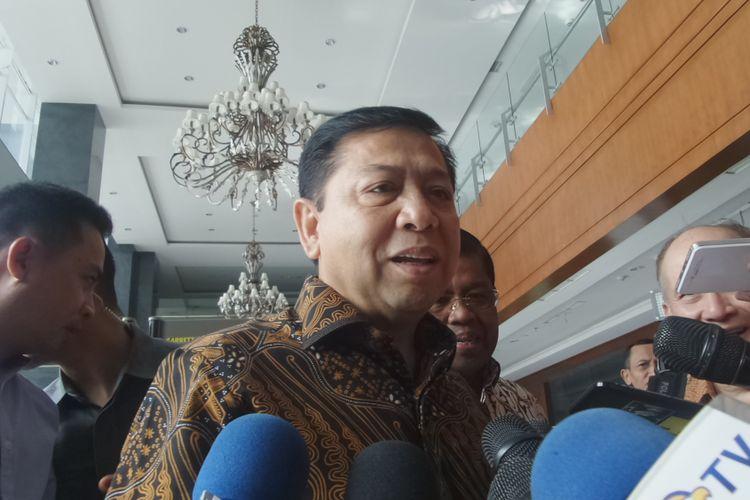 Ketua DPR RI Setya Novanto memenuhi panggilan sebagai saksi dalam sidang dugaan korupsi e-KTP di Pengadilan Tipikor, Jakarta, Kamis (6/4/2017).