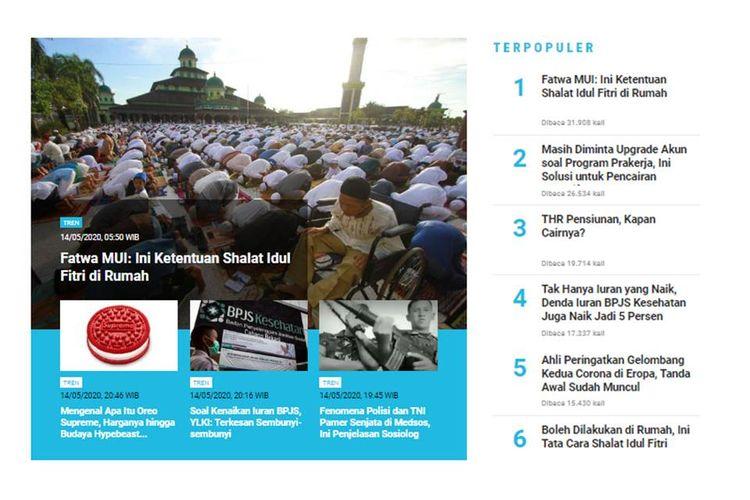 MUI mengeluarkan fatwa yang menyebutkan shalat Idul Fitri boleh dilakukan di rumah.