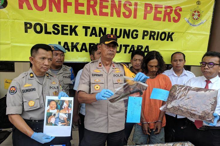 Kapolsek Tanjung Priok, Kompol Supriyanto memberi Keterangan di kantornya, Senin (8/7/2019)