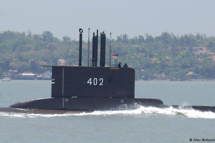 KRI Nanggala-402 yang hilang di perairan Bali.
