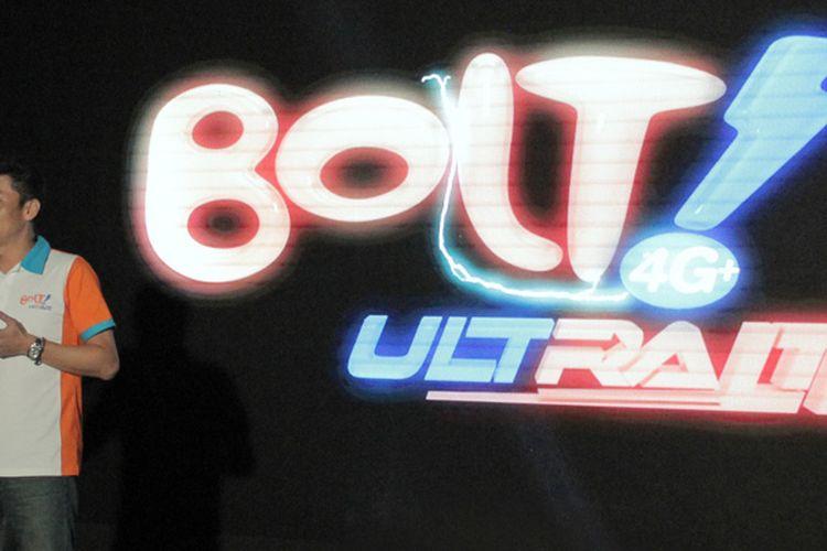 Billy Abe, Chief Product Officer Bolt 4G Ultra LTE, saat uji coba jaringan 4G LTE Advance di Jakarta, Rabu (22/2/2017).