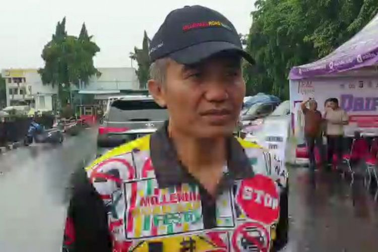 Dirlantas Polda Metro Jaya, Kombes Yusuf di Lapangan Promoter Polda Mtero Jaya, Jakarta Selatan, Minggu (3/3/2019).