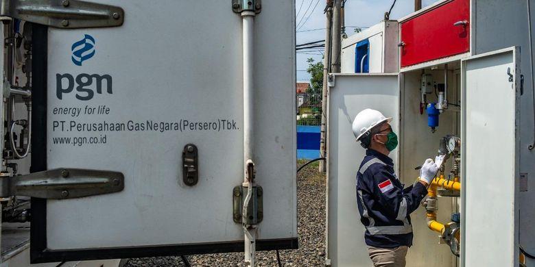 PGN menyalurkan CGN melalui Gas Transpotation Module atau Gaslink Truck untuk menjaga suplai Jargas Rumah Tangga di wilayah Semarang tetap aman.