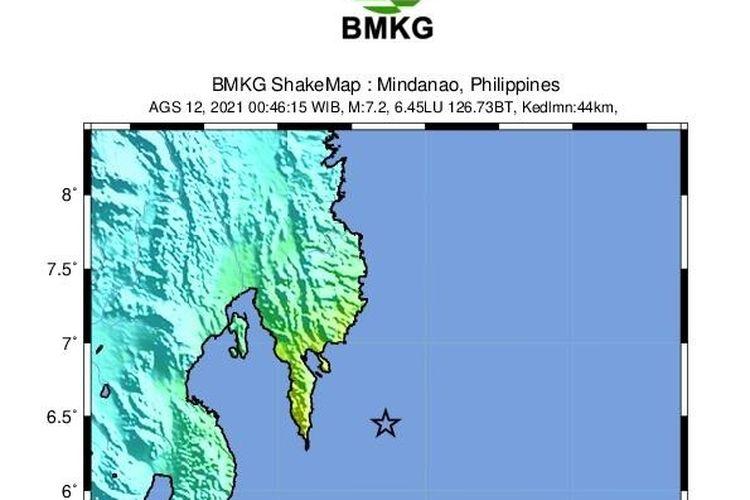 Gempa Filipina berkekuatan M 7,1 terjadi Kamis (12/8/2021) dini hari pukul 00.46 WIB. Gempa bumi ini berpusat di laut dan getaran atau guncangan gempa dirasakan hingga wilayah Indonesia di Kepulauan Talaud. Gempa tidak berpotensi tsunami, namun terjadi di zona megathrust.