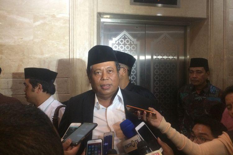 Ketua Pengurus Besar Nahdlatul Ulama (PBNU) Marsudi Syuhud di kantor PBNU, Jakarta, Sabtu (4/8/2018) malam.