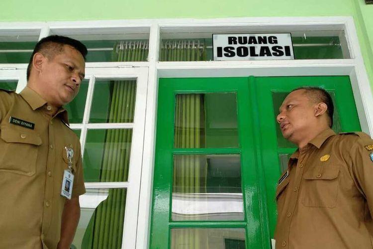 Ruang isolasi khusus covid-19 yang tersedia di Rumah Sakit Umum Daerah (RSUD) Soekardjo Kota Tasikmalaya.
