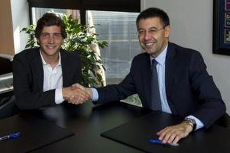 Gelandang Barcelona, Sergi Roberto.