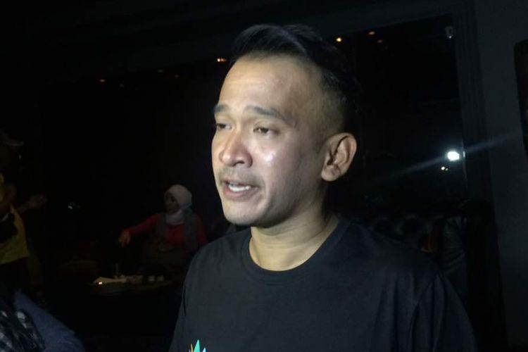 Ruben Onsu diabadikan di The Pallas, SCBD, Jakarta Selatan, Selasa (25/4/2017).