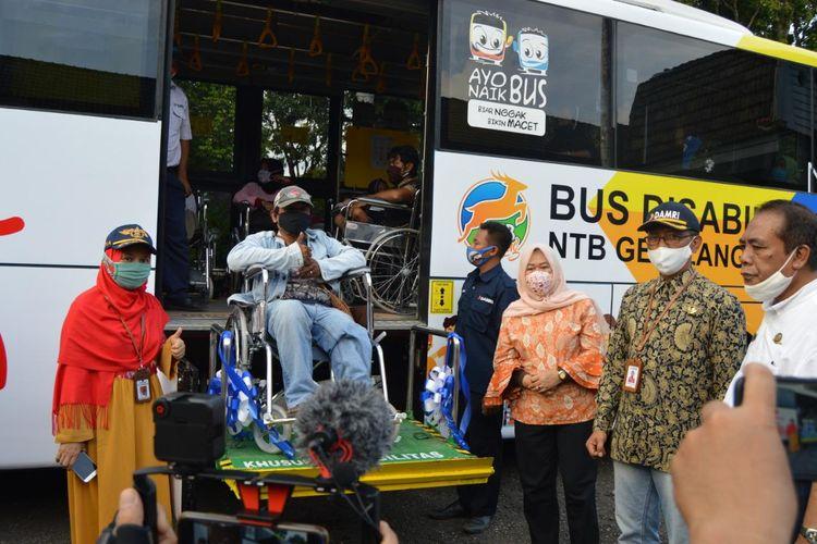 Bus disabilitas Damri NTB