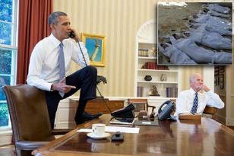 Presiden Barack Obama menunda serangan ke Suriah sampai mendapat persetujuan Kongres AS terlebih dahulu.