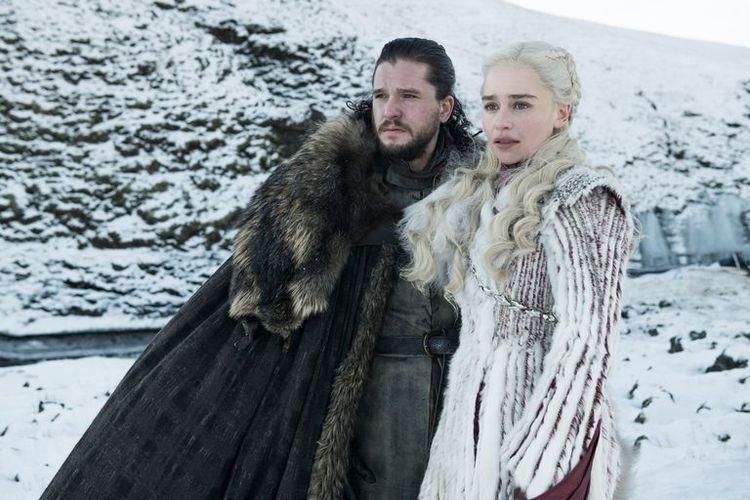 Dua karakter dalam Game of Thrones, Jon Snow dan Daenerys Targaryen.