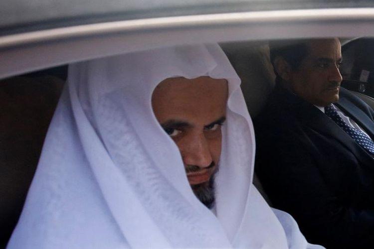 Jaksa Agung Arab Saudi Sheikh Saud al-Mojeb saat berada di Turki dalam proses pengusutan pembunuhan jurnalis Jamal Khashoggi.