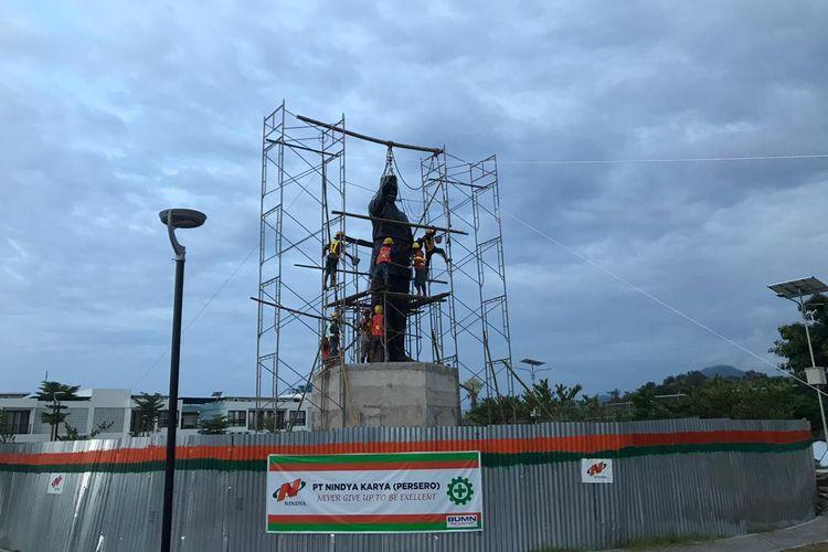 Patung Presiden Soekarno dipasang di dua Pos Lintas Batas Negara (PLBN) di wilayah perbatasan Nusa Tenggara Timur (NTT) dan Timor Leste.