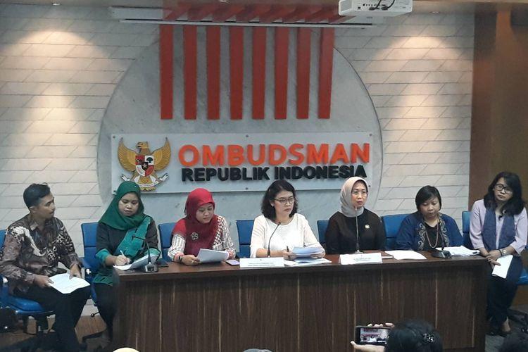 Sejumlah tokoh yang tergabung dalam Jaringan Peduli Pemberantasan Tindak Pidana Perdagangan Orang mengadukan Politisi Gerindra Andre Rosiade ke Kantor Ombudsman RI, Jakarta Selatan, Jumat (14/2/2020).