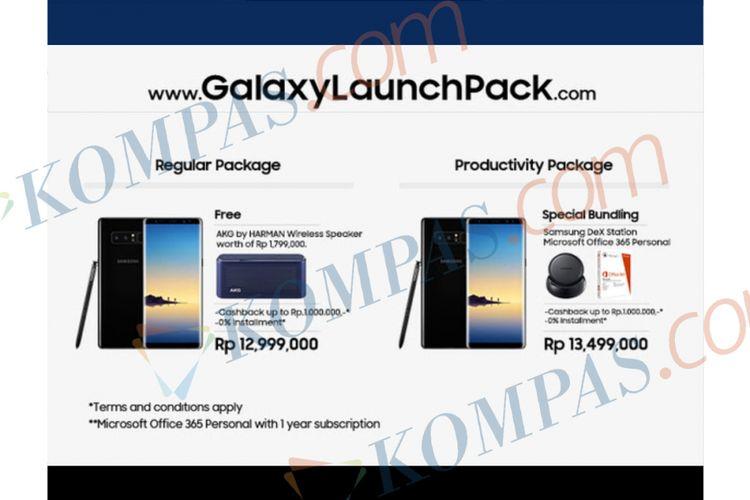 Harga Galaxy Note 8 di Indonesia.