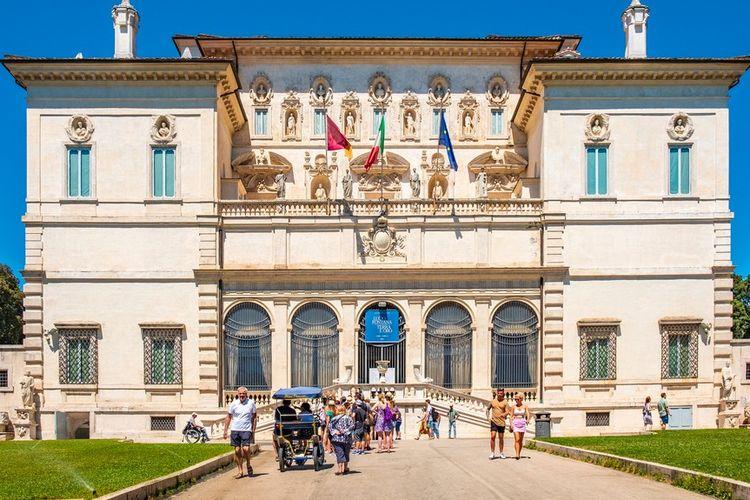 Ilustrasi Galleria Borghese di Italia.