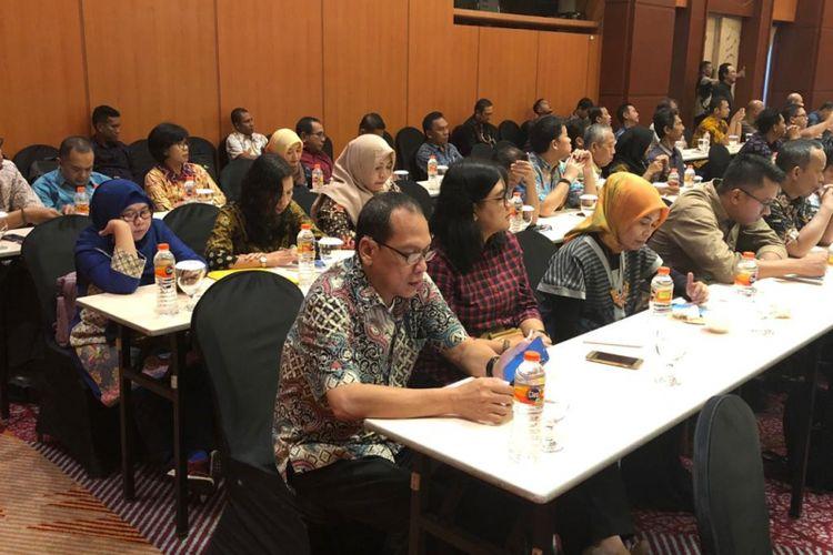 Rpat teknis (Ratek) Dirjen PSP Kmentan di Banjarmasin, 13-15 Feb 2019 diikuti oleh 160 pejabat daerah dalam lingkup pertanian.