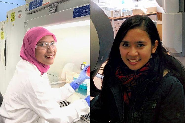 Dr Anggia Prasetyoputri MSc (kiri) dan Latifah Nurahmi MSc PhD (kanan)