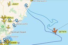 Bikin Rute Terbang Bergambar Kanguru, Boeing 747 Milik Qantas Pamit dari Australia