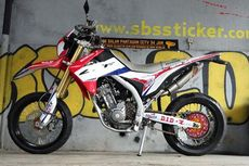 CRF 250 L Diubah Jadi Supermoto Idaman
